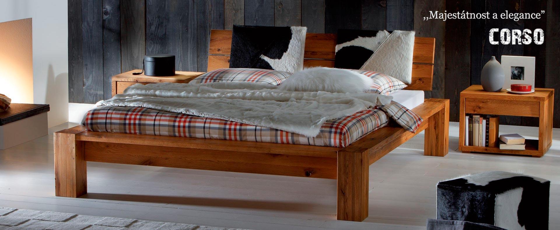 Kvalitní a luxusní postel z masivu od firmy ECLISSI model CORSO.