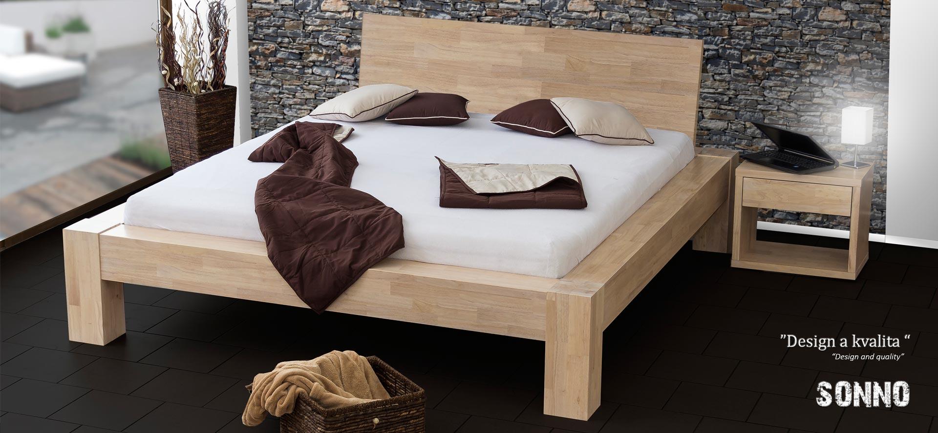 Masivní postel model SONNO