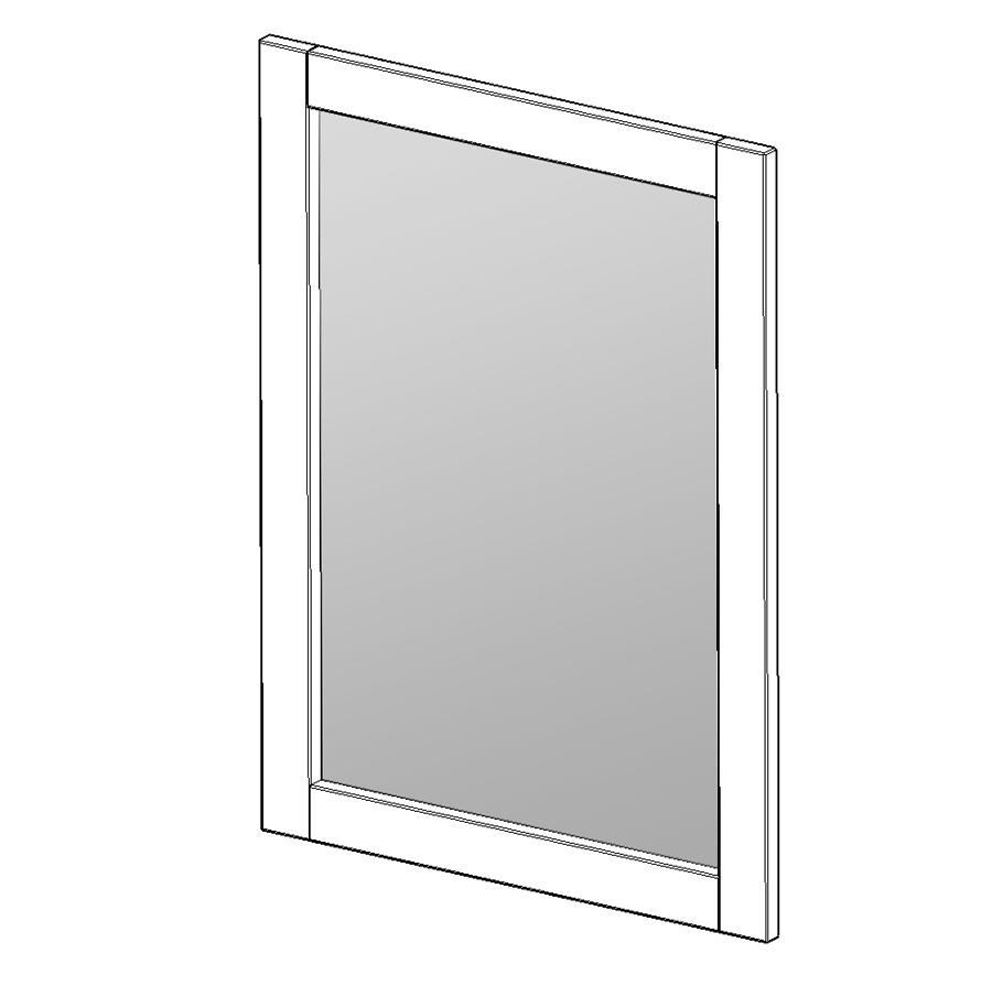 Nástěnné zrcadlo k toaletnímu stolku - ECLISSI